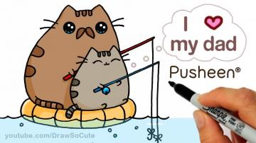 Cute Drawings Of Pusheen Cat