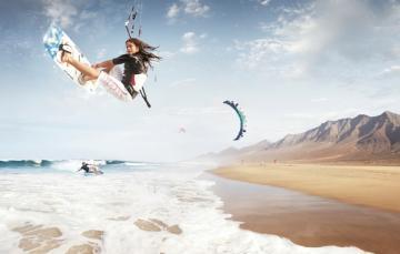 Shore Kitesurfing Windsurf Kitesurf Sea 1920x1226 Wallpaper Pictures