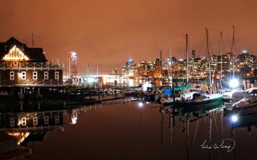 Vancouver Coal Harbour Nights Wallpapers HD Wallpapers
