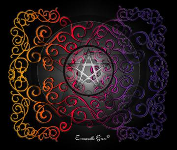 Wiccan Pentacle Backgrounds Wiccan background2 by garnet