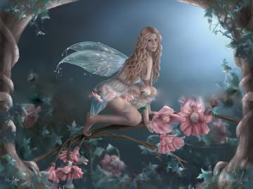 Enchantted flower fairy jpg Wallpaper hegm8