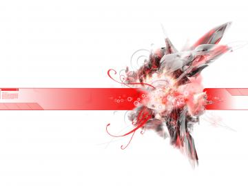 Black Red White Abstract
