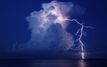 lightning cloud night water storm reflection sea ocean f wallpaper