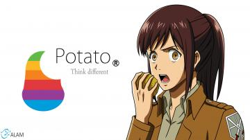 Shingeki no Kyojin Wallpaper   Potato Girl Sasha by DjAlam on
