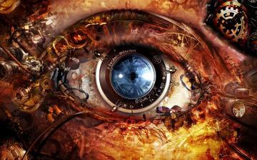 Steampunk Abstract Eyes HD Wallpaper