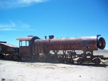 abandoned steam train Photo