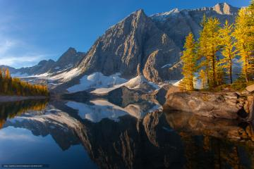 Download wallpaper floe lake kootenay national park british columbia