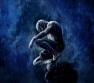 Spiderman Rain Android wallpaper HD