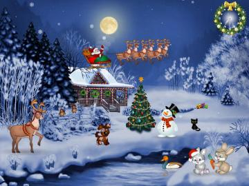 ChristmasDesktopScreensaverWallpaperjpg