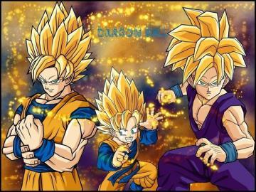 Goku Gohan Goten wallpaper by MissCath