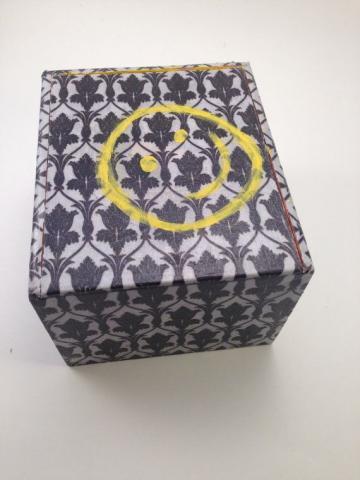 Sherlock Wallpaper UpCycled Cigar Box Treasure Chest by Lelujools 20