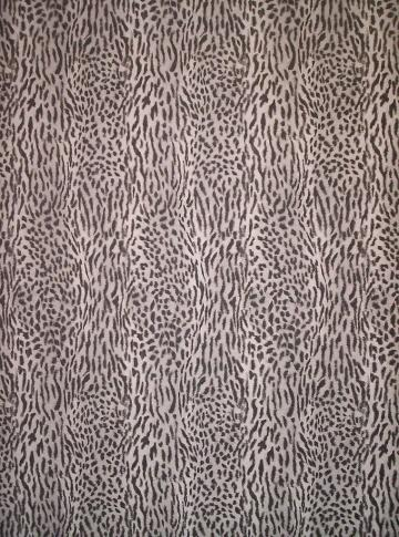 BLACK WHITE AND GRAY FAUX LEOPARD FUR WALLPAPER 370