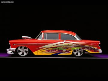 Cars 1956 Custom Chevy Bel Air desktop wallpaper nr 18406