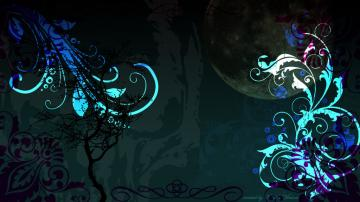 Gothic Background Wallpaper Teal gothic desktop background