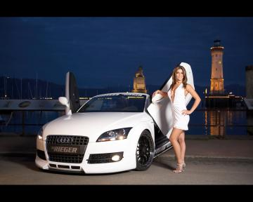 girls and cadillac car wallpapers girls and rieger cars wallpapers