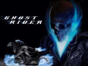 Ghost Rider Blue Skull Wallpaper