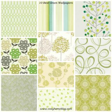 Spring greens 10 green wallpaper decorating ideas Cosy Home Blog