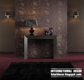 modern living room wallpaper brown design ideas interior