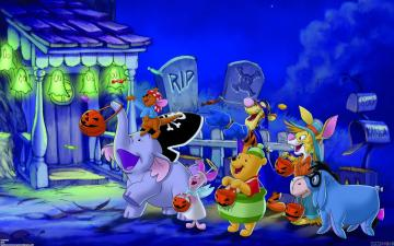 Disney Halloween trick or treating for candy
