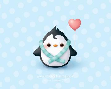 Baby Penguin Wallpaper by Oborochann