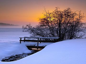 Winter Sunset Desktop Backgrounds wallpaper wallpaper hd
