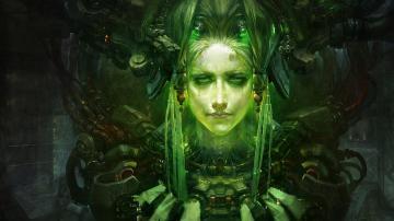 Green fantasy art cyberpunk artwork fan wallpaper 71932