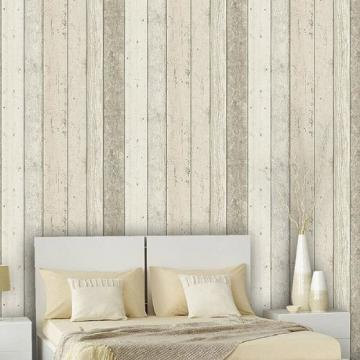Reclaimed Wood panel Effect Faux wallpaper Beige Sample at Shop