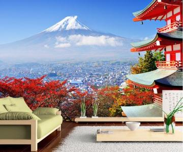 3D Wallpaper Mural Japanese Landscape Spring Wall Paper Background
