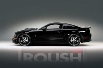 Black Roush Mustang Desktop and mobile wallpaper Wallippo