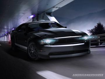 Mustang Night Cruiser Desktop Background Wallpaper Parts for Mustang