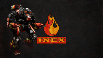 Wallpaper MWO Hellbringer and INEX logo by Odanan