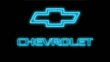 Blue Chevy Neon Logo wallpaper   ForWallpapercom