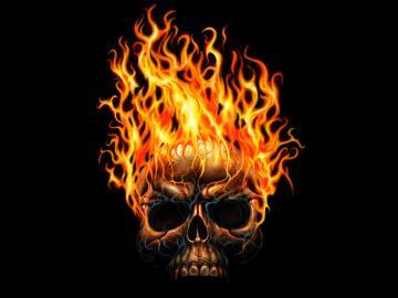 Flaming skull computer wallpaper cute Wallpapers