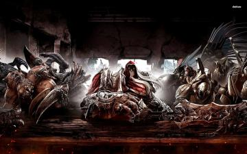 Four Horsemen at the table in Darksiders wallpaper   Game wallpapers