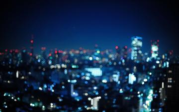 Blurry city lights wallpaper 14941