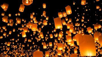 Night light ballon photography hd wallpaper wallpaper 1920x1080