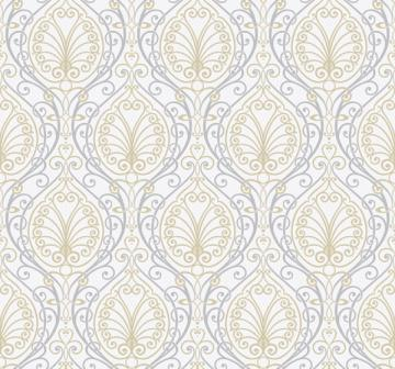 Silver Paisley Wallpaper   Wall Sticker Outlet