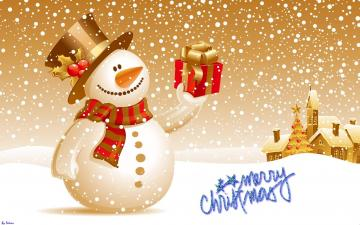 Cute Snowman Merry Christmas Images Wallpaper 7426 Wallpaper computer