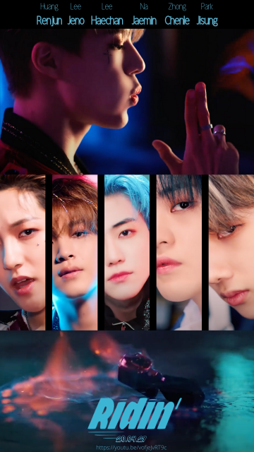 I made movie style posterswallpapers for Ridin NCT
