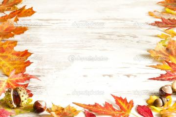 Autumn Leaves Wallpaper Border Autumn leaves on white boards