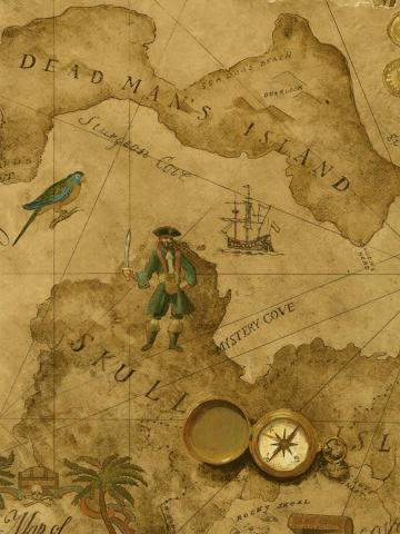 Treasure Map Wallpaper Wall Sticker Outlet Wallpaper in Pixels