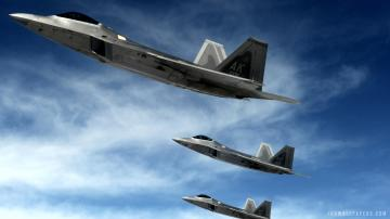 22 Raptor Supersonic Stealth Fighters HD Wallpaper   iHD Wallpapers
