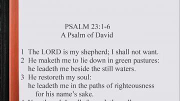 Psalm 23 1 Psalm 23 1 6 Scripture Song
