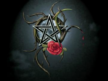 Pentacle Wallpaper Pentagram and rose by chrome