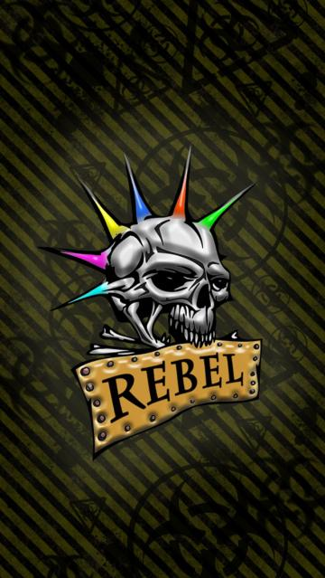 Rebel Skull Wallpaper   iPhone Wallpapers