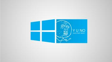 Download Funny Blue Windows 8 Meme Wallpaper in 1366x768 Resolution