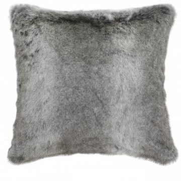 Arctic Wolf Grey Faux Fur 45 x 45cm Cushion by CIMC