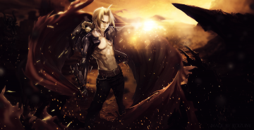 fullmetal alchemist edward elric by lkoizumil customization wallpaper