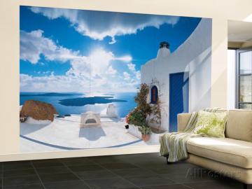 Santorini Sunset Huge Wall Mural Art Print Poster 144x100 eBay