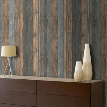 Scrapwood Wallpaper Reclaimed Wood Wallpaper Charcoal Blue Brown Tones